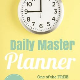 FREE Daily Master Planner