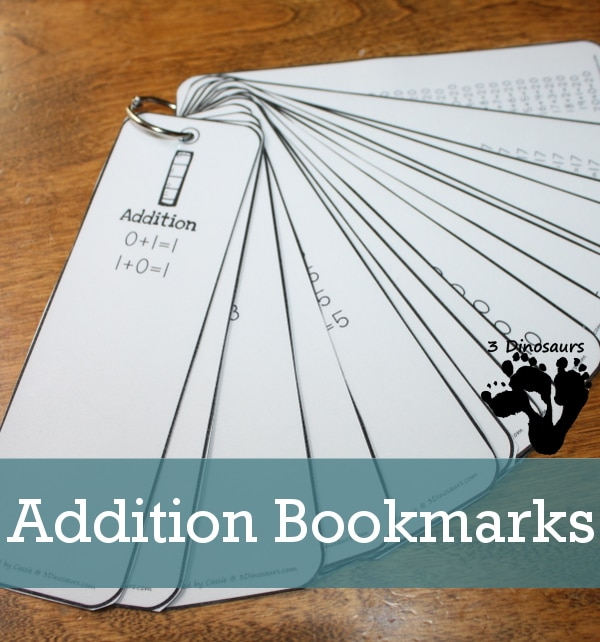 FREE Addition Bookmarks