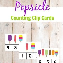 FREE Popsicle Counting Clip Cards