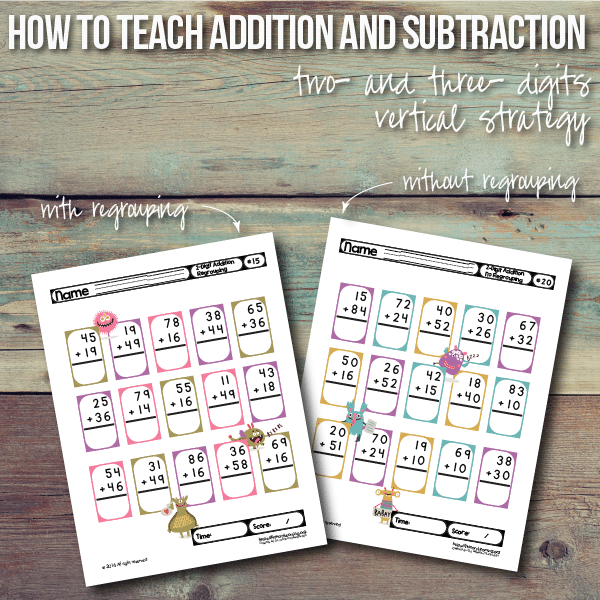 FREE Addition and Subtraction Printables
