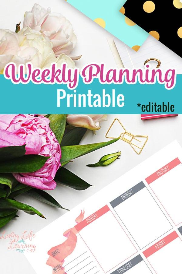 FREE Weekly Planning Printables