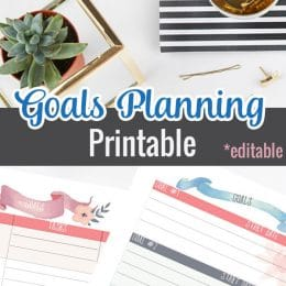 FREE Goals Planning Printables