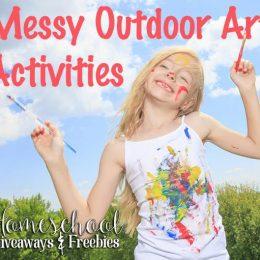 Messy Outdoor Art Activities