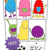 For a little Autumn fun, check out this FREE Monster Googly Eyes Pack! #fhdhomeschoolers #freehomeschooldeals #fallresources #counting #preschool