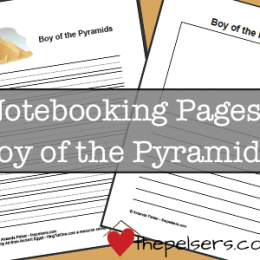 FREE Boys of the Pyramid Notebooking Pages