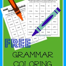 FREE Grammar Coloring Pages