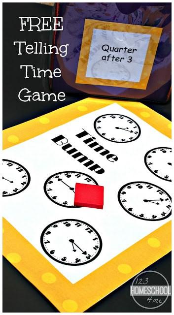 FREE Clock Math Game