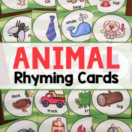 FREE Animal Rhyming Cards