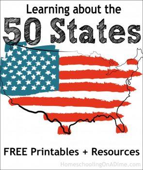 FREE 50 States Printables