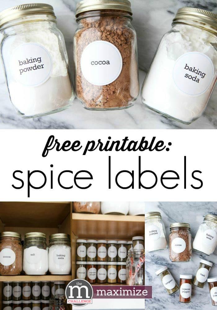 FREE Spice Rack Printables
