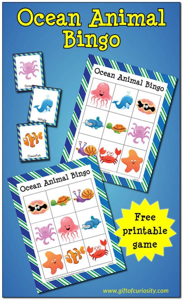 FREE Ocean Animal Bingo