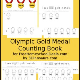 FREE OLYMPIC MEDAL COUNTING BOOK (Instant Download)