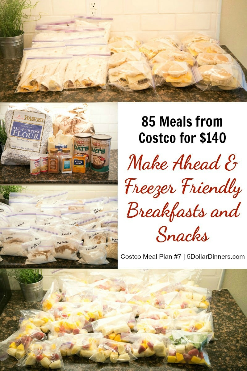 Costco Breakfast & Snack Meal Plan Only $5 (85 Meals for $140!)