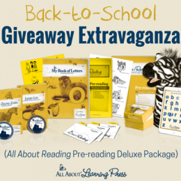 Homeschool Giveaway: All About Reading Pre-Reading Deluxe Package