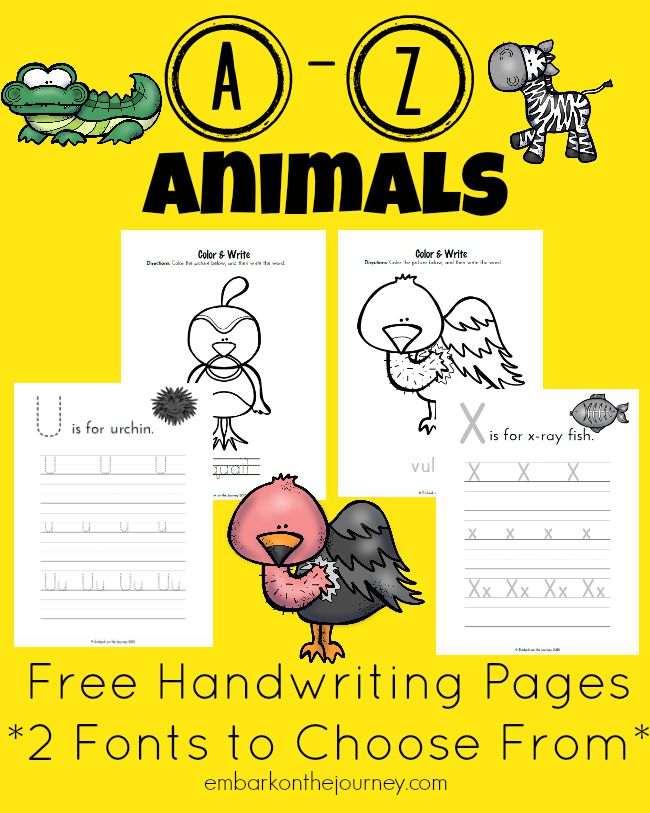 FREE Animal Writing Pages