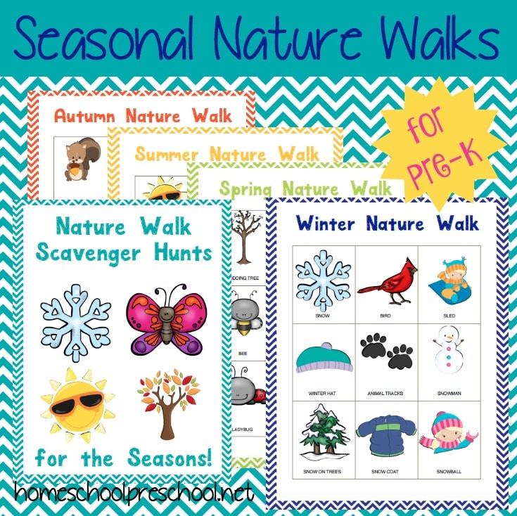 FREE Preschool Nature Walk Printables