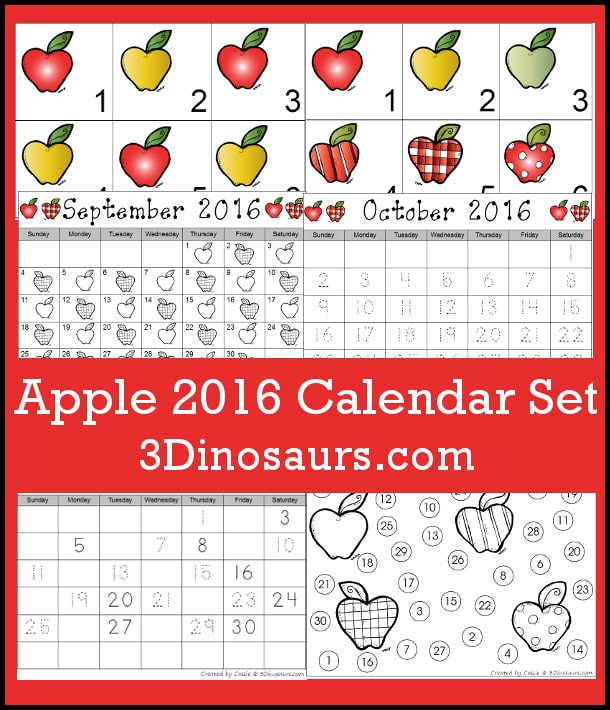 FREE Apple Calendar for 2016