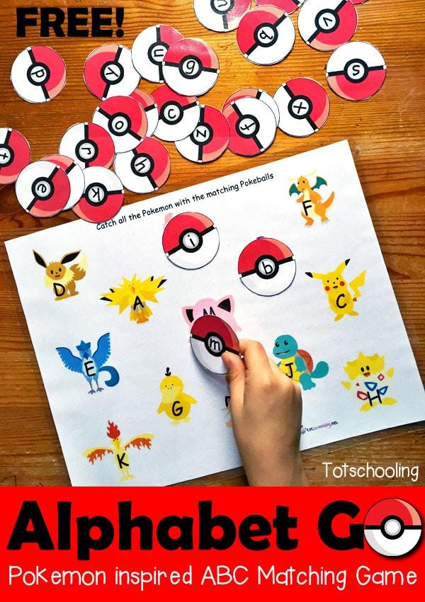 FREE Alphabet Go! Pokemon Like Game