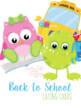 FREE Back to School Lacing Card