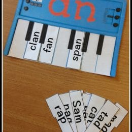 FREE Word Families Piano Lesson