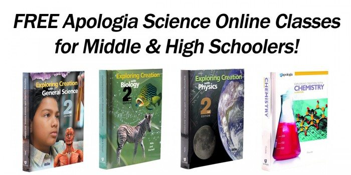 FREE Apologia Science Classes for Middle & High School Students