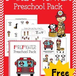 FREE Fireman Preschool Pack