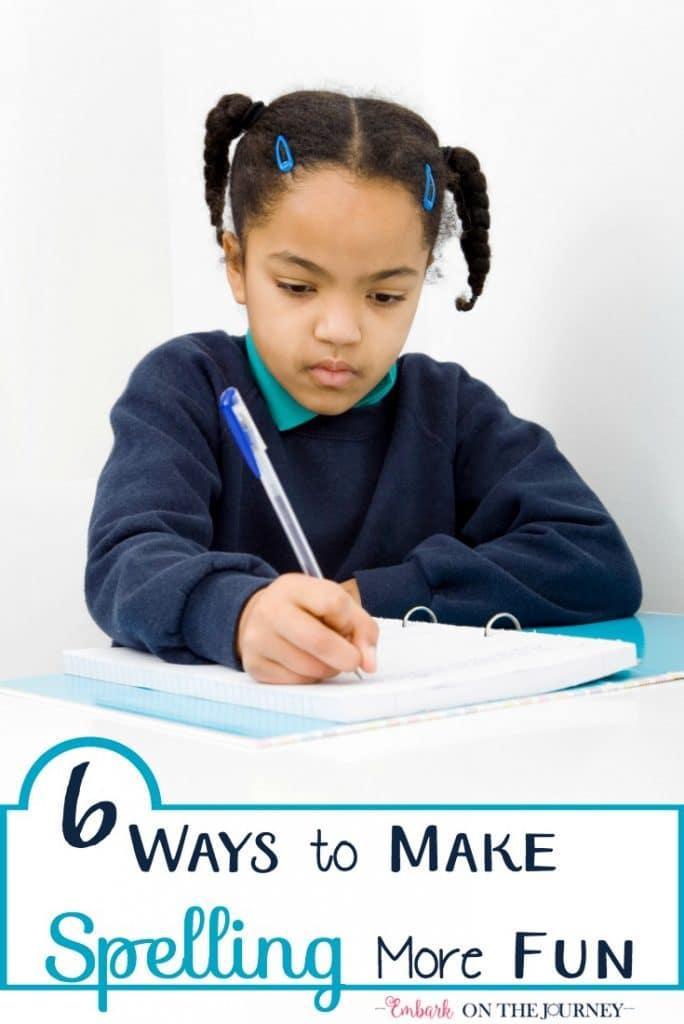 FREE 6 Ways to Make Spelling Fun