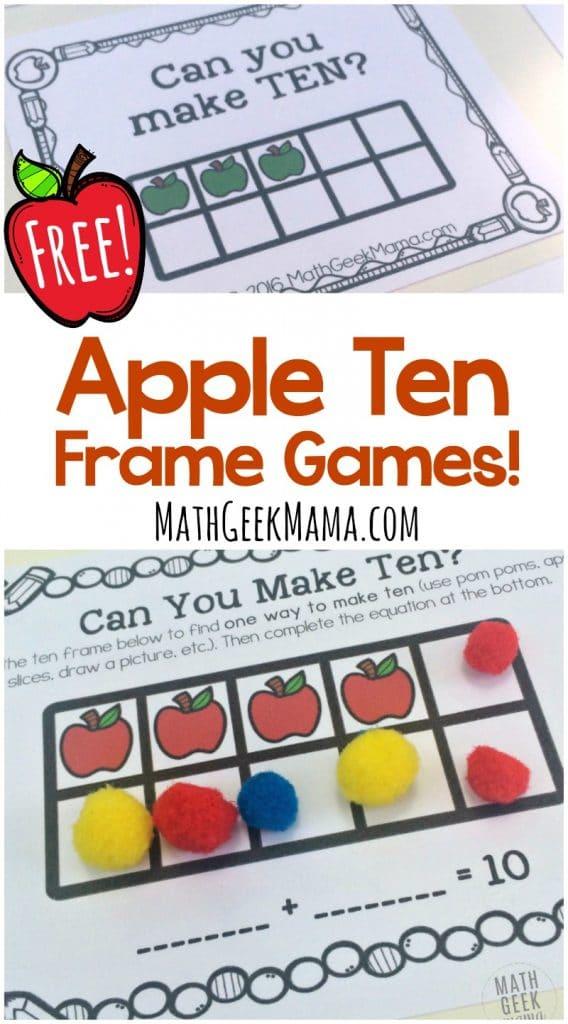 FREE Apple Frame Ten Games