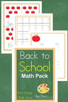 FREE Back to School Math Pack