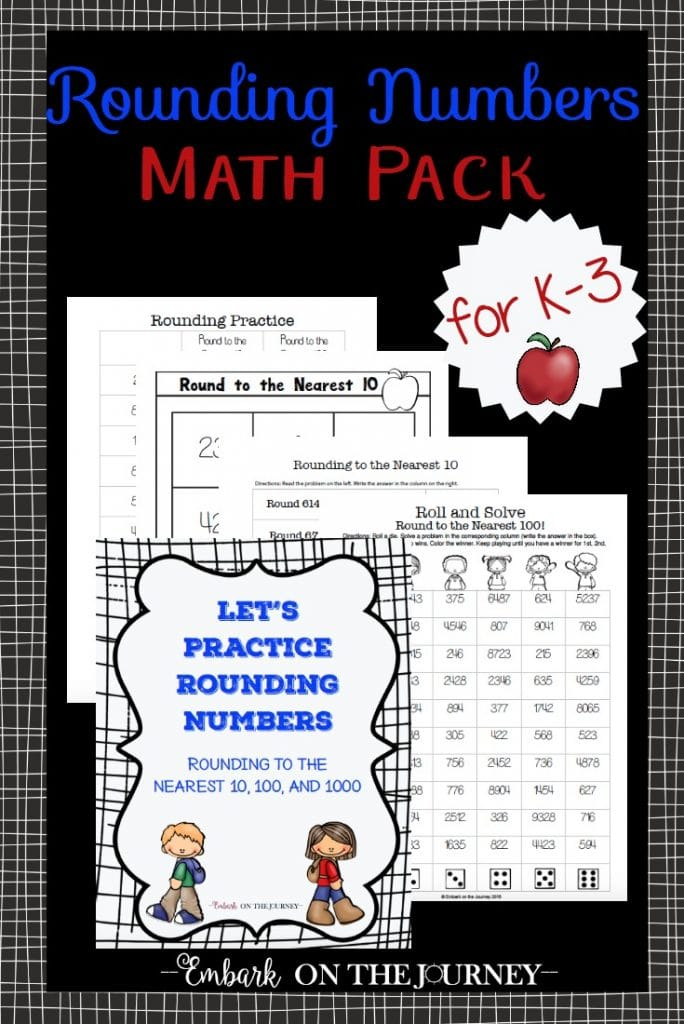 FREE Math Rounding Numbers Pack