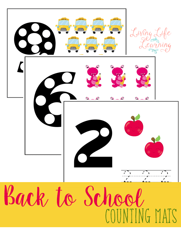 FREE Back to School Counting Mats