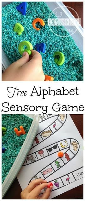 FREE Beginning Sounds Sensory Game