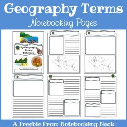 FREE Geography Notebooking Pages