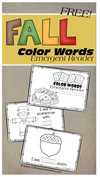 FREE Color Word Emergent Readers