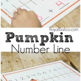 FREE Pumpkin Number Lines