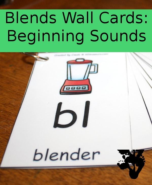 FREE Blends Wall Cards Beginning Sounds