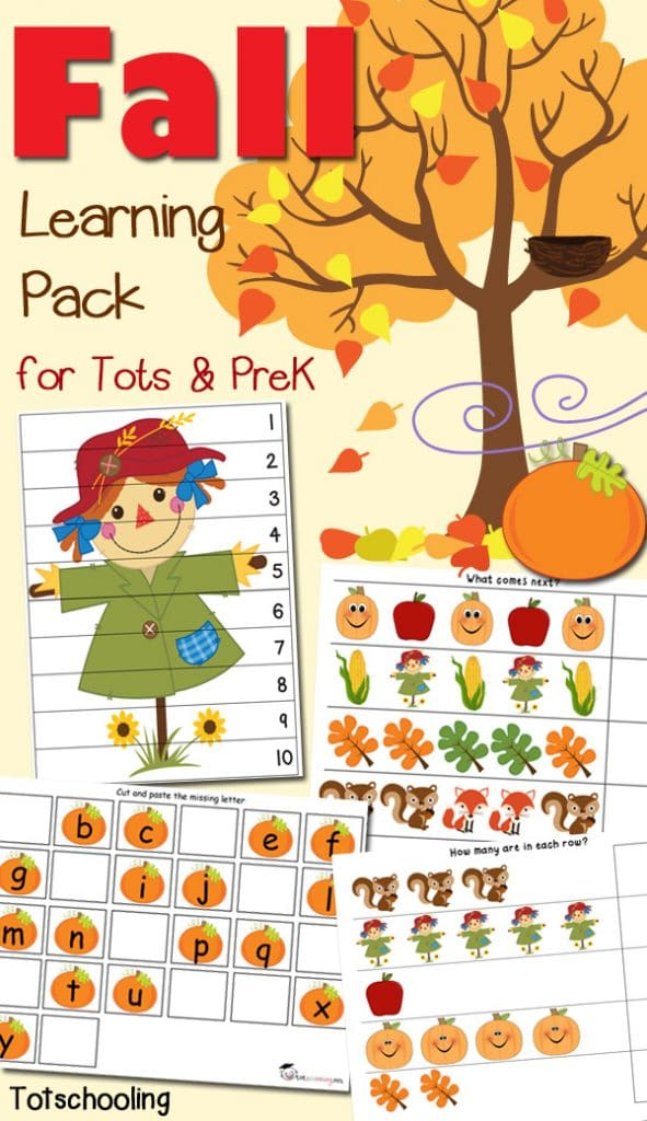 FREE Fall Learning Pack