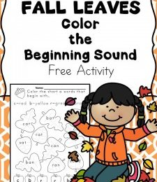 FREE Beginning Sounds Fall Leaves