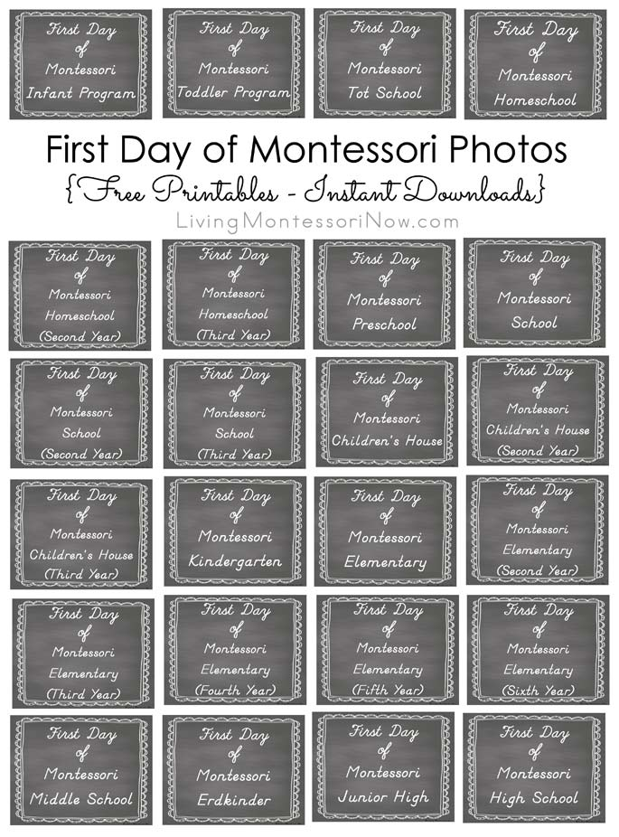 FREE First Day of School Photo Pack