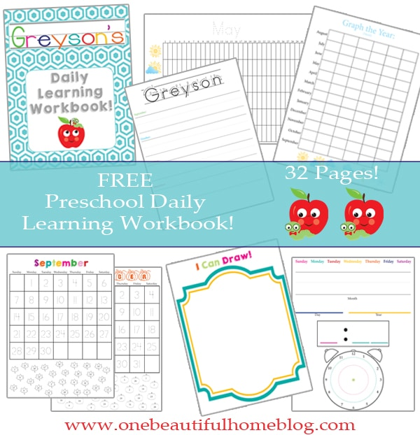 FREE Preschool Learning Pack