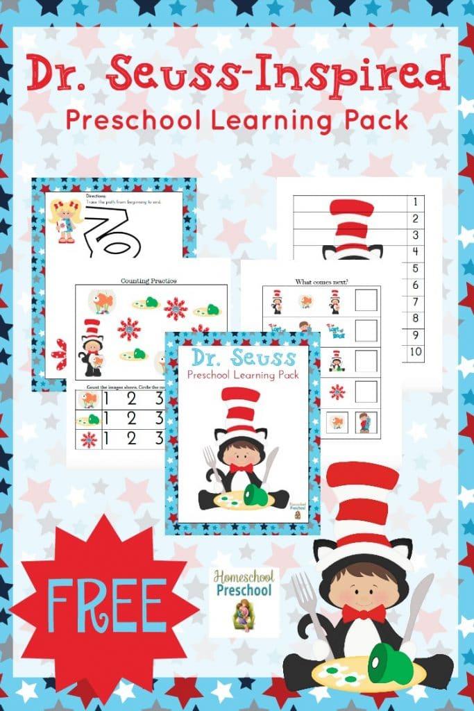FREE Dr. Seuss Preschool Pack