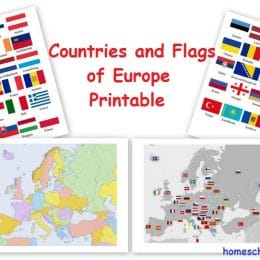 FREE European Countries Flag and Printables