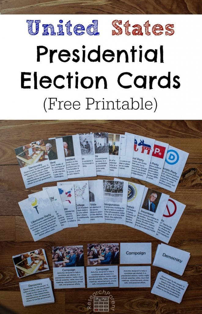 FREE US Presidential Election Cards