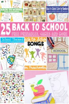 25 FREE Back to School Printables
