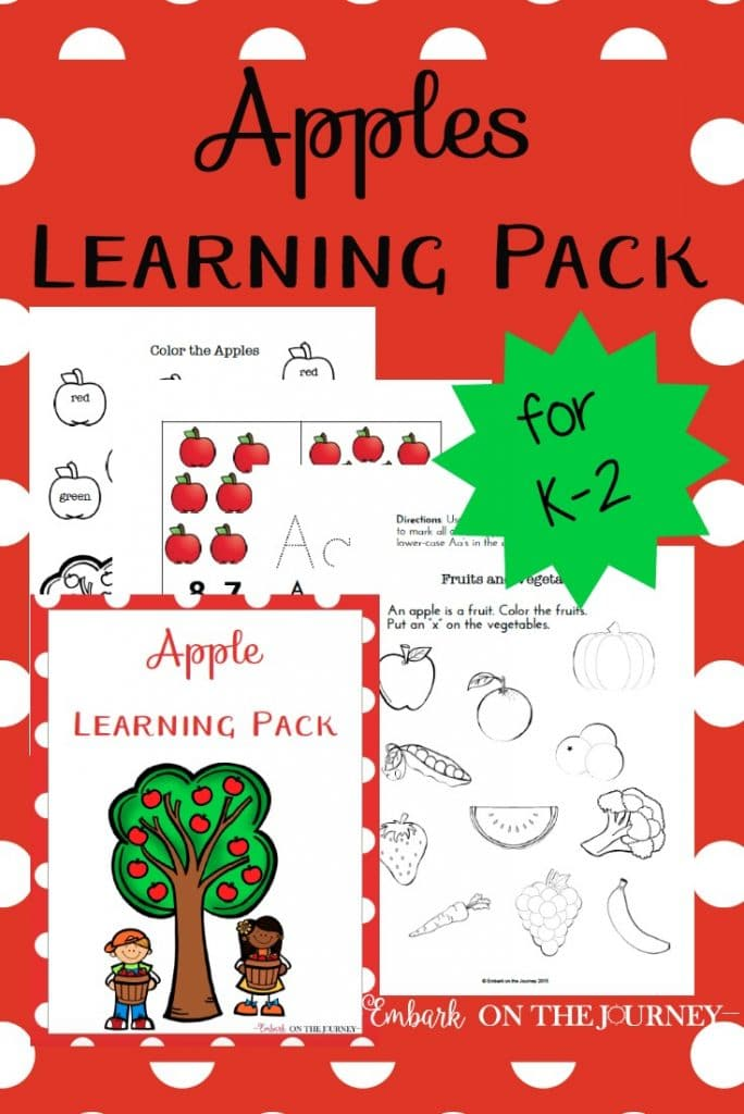 FREE Apples Learning Pack