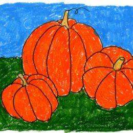 FREE Pumpkin Drawing Tutorial