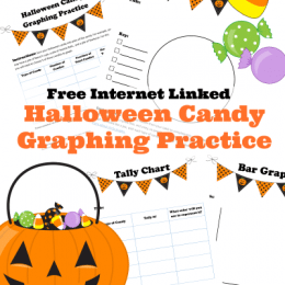 Put old candy to good use! Check out this FREE Halloween Candy Graphing Practice Printable! #fhdhomeschoolers #freehomeschooldeals #graphing #hsfreebies #hsmath