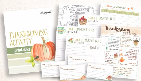Free Thankfulness Printable Pack - Journal, Scripture Cards, & More!