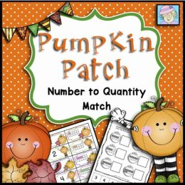 Free Pumpkin Patch Number Matching Printables
