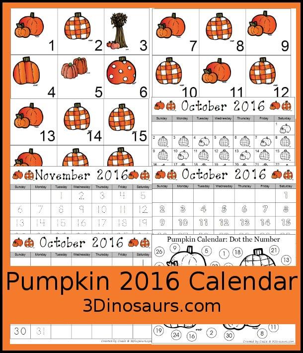 FREE Pumpkin Calendar